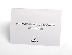 ロレックス 国際サービス保証書 台紙